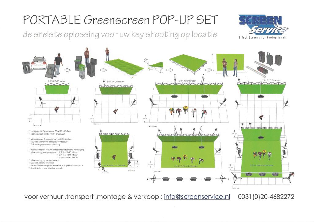PORTABLE Greenscreen POP-UP set