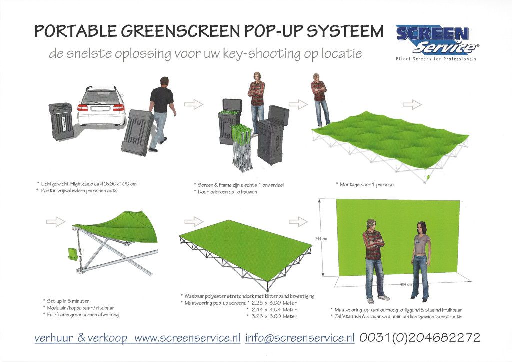 PORTABLE Greenscreen POP-UP set