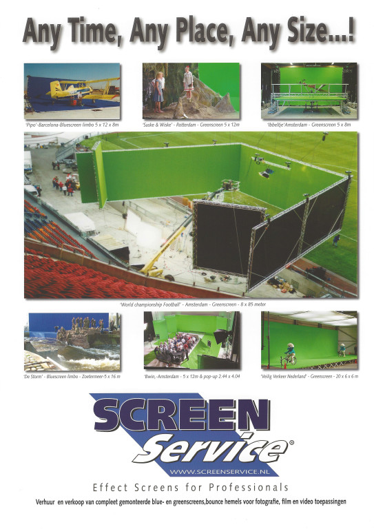 ScreenService Any Time - Any Place - Any Size